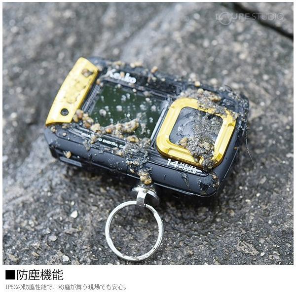 カメラ 防水 小型 デジタルカメラ マイクロSDカード8GB付・強撥水デジカメポーチ付 アクションカメラ|loupe|05