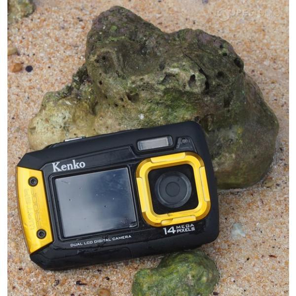 カメラ 防水 小型 デジタルカメラ マイクロSDカード8GB付・強撥水デジカメポーチ付 アクションカメラ|loupe|08