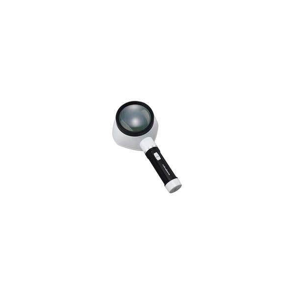 虫眼鏡 拡大鏡 フラッシュルーペ M-323 3.5倍 80mm ライト付 池田レンズ