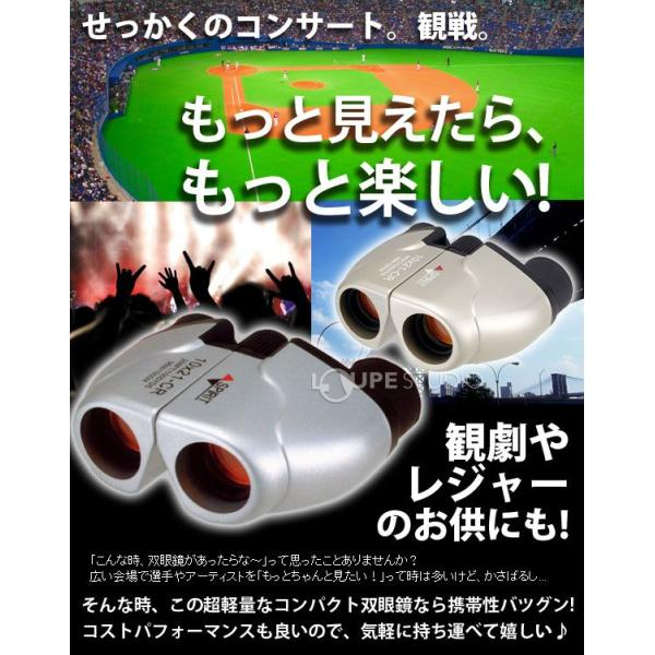 双眼鏡 10倍 ナシカ コンサート コンパクト 10×21CR-IR オペラグラス ライブ ドーム コンサート ライブ|loupe|02