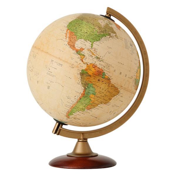 地球儀 入学祝い ラッピング無料 小学校 子供用 学習 インテリア アウトレット ライト無し アンティーク 行政図 球径25cm オルビス|loupe