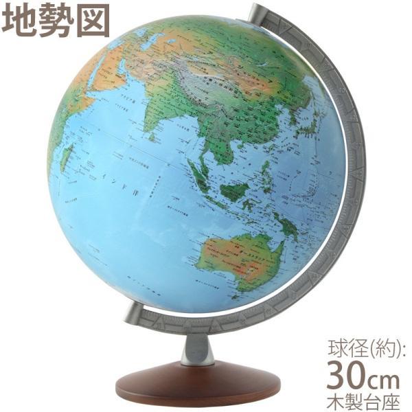 地球儀 子供 インテリア 入学祝い 小学校 学習 スペース11型 地勢図 球径30cm イタリア製 おしゃれ