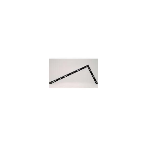 曲尺小型 サンデーカーペンター 黒色 30×15cm裏面角目 白目盛 12416 かねじゃく さしがね 定規 ステンレス シンワ測定