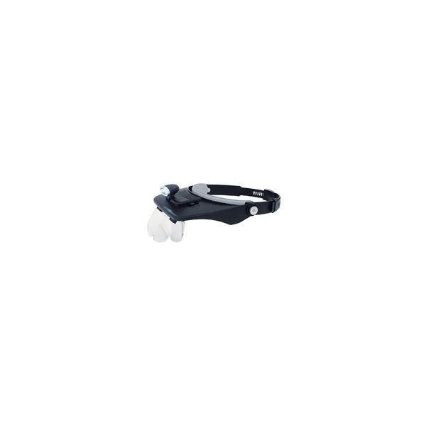 ヘッドルーペ LEDライト付 双眼ヘッドルーペ W-5 75737 虫めがね 工作 検品 検査 模型製作 とげ抜き 耳かき 読書 手芸 裁縫 園芸