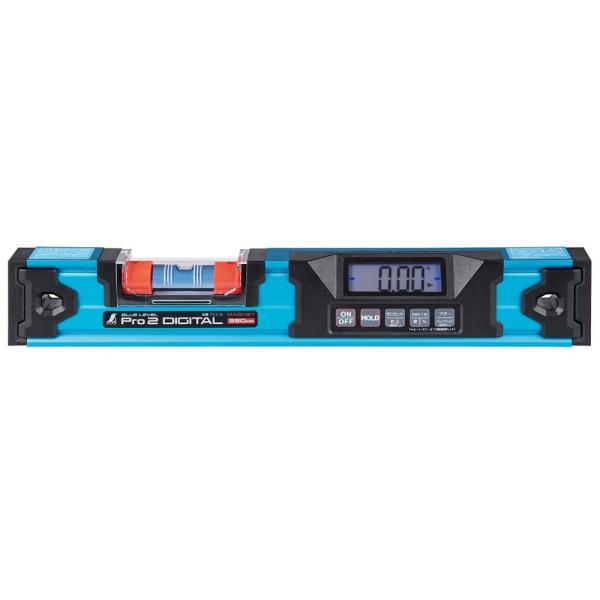 ブルーレベル Pro 2 デジタル350mm 防塵防水 デジタル水平器 マグネット付 75316 シンワ測定 水平器 おすすめ 気泡管 精度 角度 水