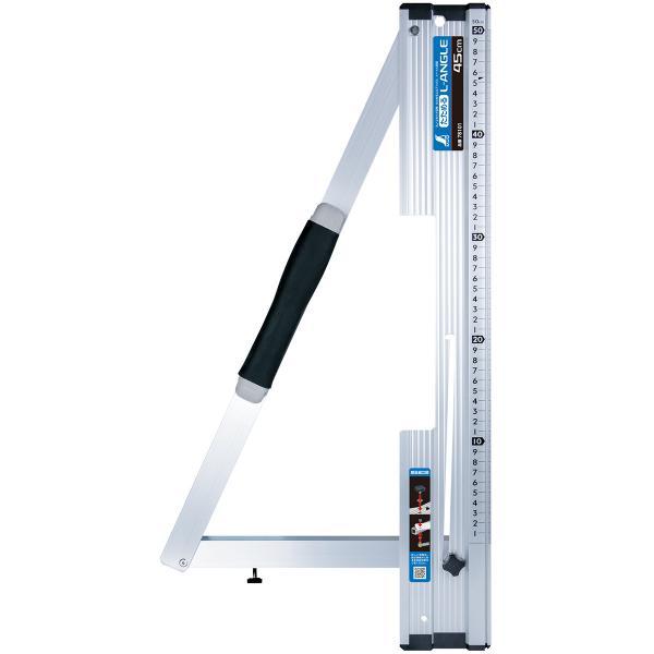 丸ノコガイド定規 シンワ測定 たためるエルアングル 45cm メートル目盛 折りたたみ 丸のこガイド 丸鋸ガイド ものさし 大工 工具 DIY