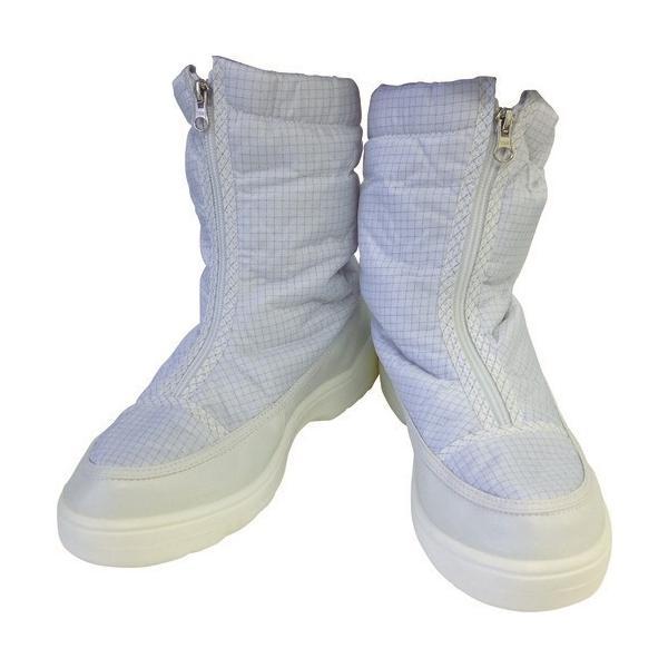 作業靴 ワークシューズ 安全靴 クリーンルーム用シューズ おすすめ 作業用 くつ ブラストン 制電ハーフブーツ 25.0 [BSC-516-25.0] BSC51625.0 販売単位:1