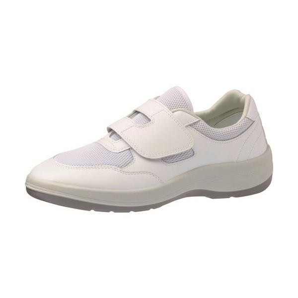 作業靴 ワークシューズ 安全靴 クリーンルーム用シューズ おすすめ 作業用 くつ ミドリ安全 男女兼用 静電作業靴 エレパス NU403 ホワイト 25.0cm [NU403-25