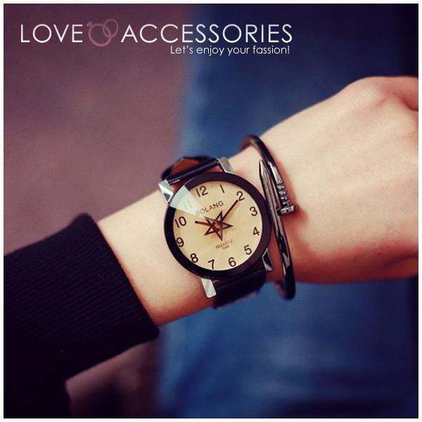 d490afa022 腕時計 レディース 時計 おしゃれ かわいい 人気 アクセサリー 秒針が星 ...