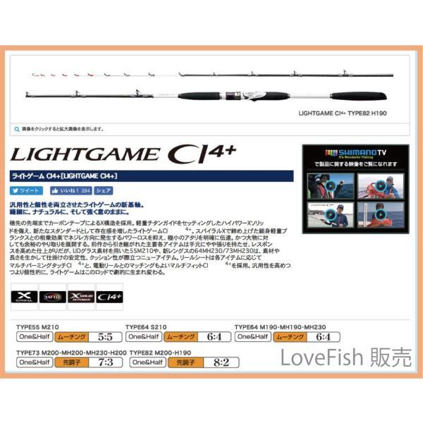 シマノ ライトゲーム CI4+ TYPE82 M200/TYPE73 MH230