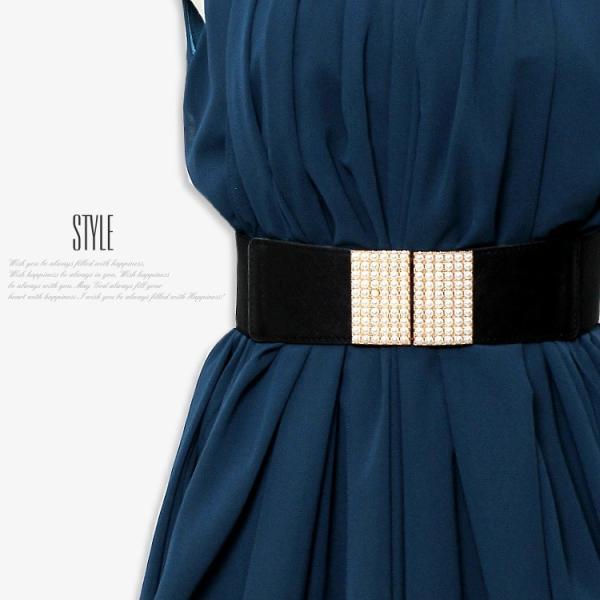 ゴムベルト 太 ベルトレディース フリーサイズ 白 黒 ウエストマーク レディースファッション パーティードレス通販クレア 2本セットで割引価格|lovegal|04