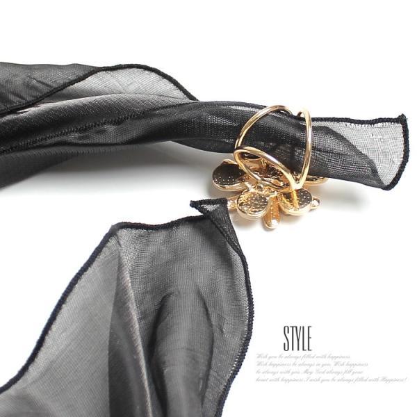 スカーフ リング ショール スカーフ留めアクセサリー フラワーラインストーン パーティーアクセ パーティードレス通販クレア|lovegal|12