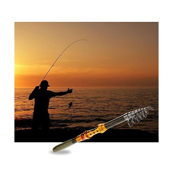 Zacro ロッド 釣り竿 のべ竿 魚竿 渓流竿 万能竿 カーボン釣り竿 炭素伸縮釣竿 折り畳み式 スピニングロッド 釣りロッド