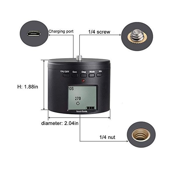 Anordsem GoProアダプタ 360度回転雲台 自由雲台 ステント Goproカメラ適用 Mini SLR 携帯電話