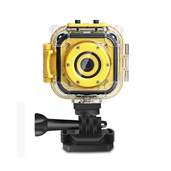 DROGRACE 子供デジカメ IP68対応 30M防水 4倍ズーム 40種類フォートフレーム 1.77インチ 1080P録画