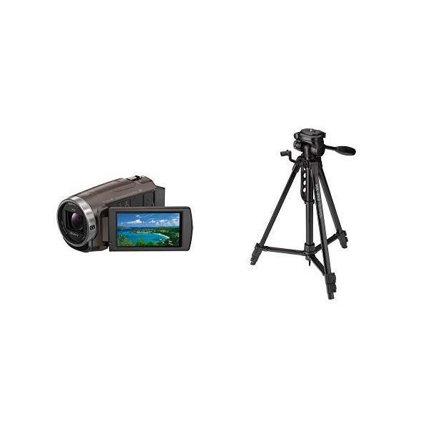 ソニー SONY ビデオカメラ Handycam 光学30倍 内蔵メモリー64GB ブロンズブラウンHDR-CX680 TI +