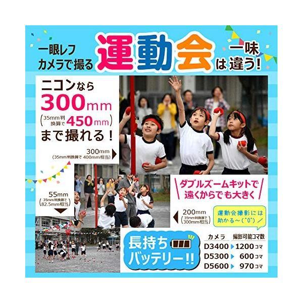 Nikon デジタル一眼レフカメラ D3400 ダブルズームキット ブラック D3400WZBK + HAKUBA カメラバッグ