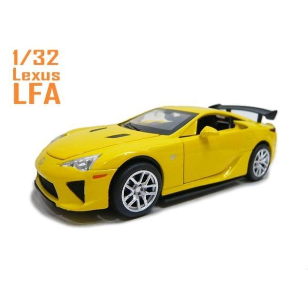 1/32 トヨタ レクサス LFA イエロー Lexus 光る鳴る ミニカー TOYOTA ギミック lovelybeetlegarage