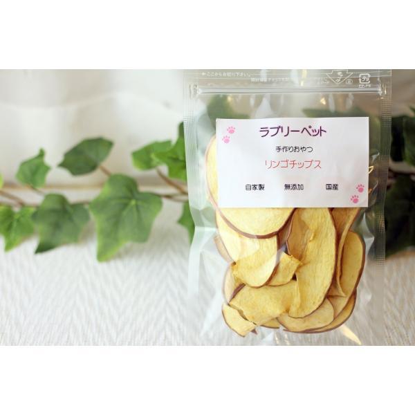 無添加 国産 犬 猫 おやつ 手作り リンゴチップス15g|lovelypet-oyatu