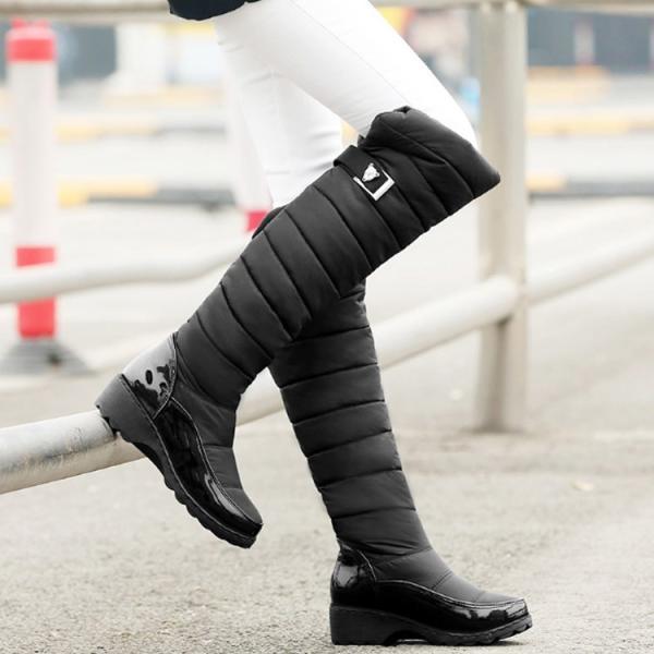 送料無料レディース エンジニアブーツ ロングブーツ 大きいサイズ 美脚 ニーハイブーツ ブーツ ストレッチ 歩きやすい 疲れにくい 柔らか ブラック