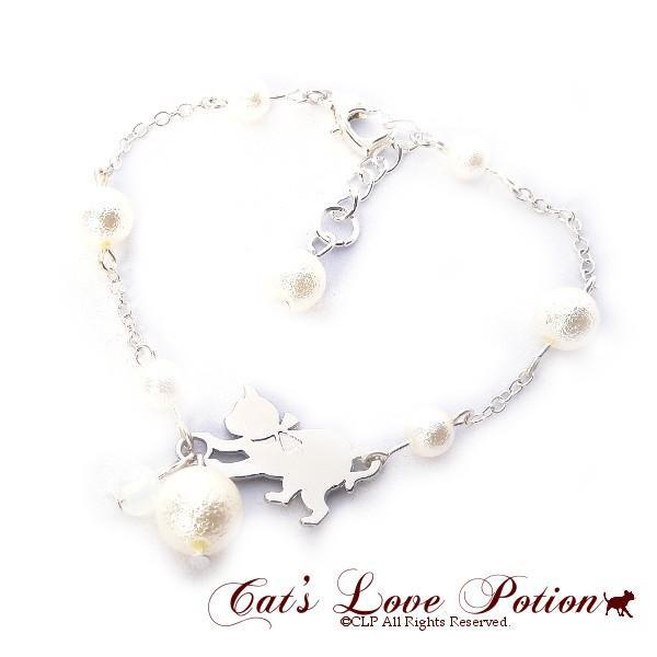 猫 パール キャット ブレスレット Cat's Love Potion メール便送料無料|lovexclp