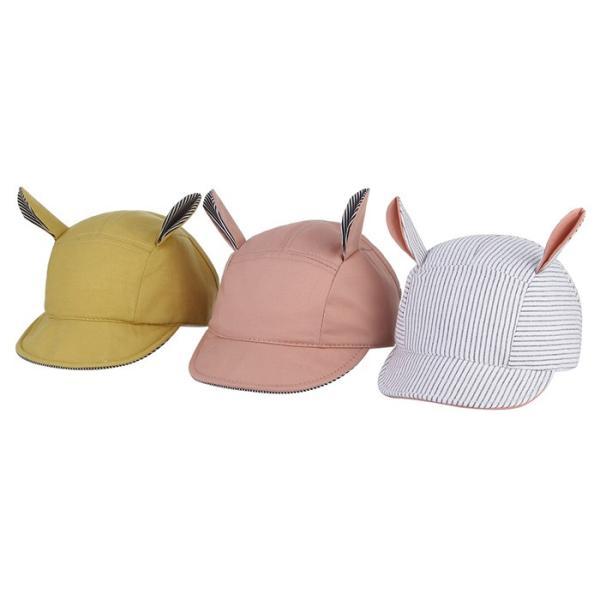 867bfaa98b7d7 子供キャップ 女の子 男の子 ハット 野球帽 耳飾り つば広 日焼け止め ...