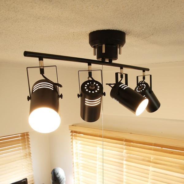 RoomClip商品情報 - スポットライト シーリング LED 4灯 おしゃれ リビング ダイニング スポット 電球対応 照明 天井 間接照明 ウッド スチール モダン ロウヤ LOWYA