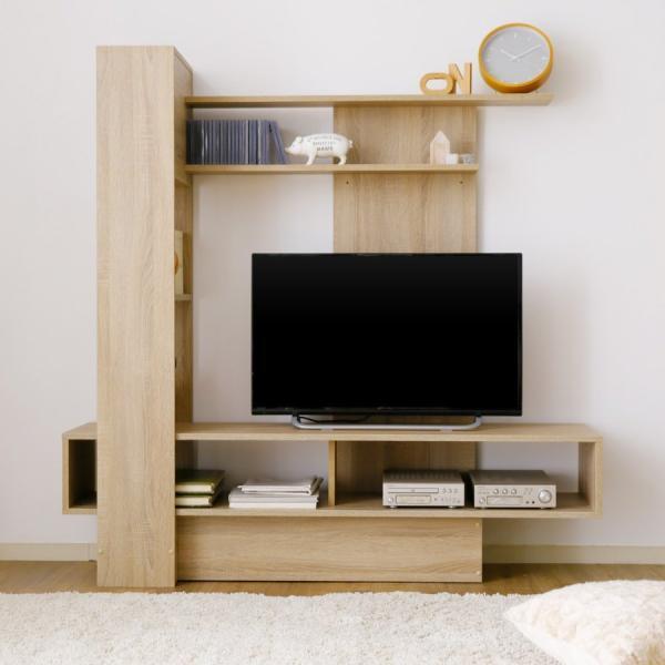 テレビ台 ハイタイプ 壁面収納 140cm おしゃれ 収納 木製 TV台 ラック リビング TVボード ロウヤ LOWYA