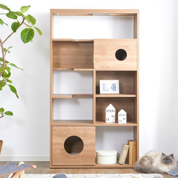 ラック 棚 収納 猫家具 ねこ ネコ 木製 おしゃれ キャットタワー キャットウォーク ペット シェルフ 90cm 壁面収納 半完成品 国産 日本製 ロウヤ 会員
