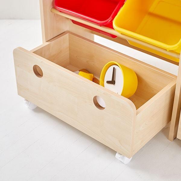 おもちゃ箱 収納 ラック ボックス トイ 子供 おしゃれ こども 木製 本棚 シェルフ おもちゃ ワイド ロウヤ LOWYA|low-ya|20