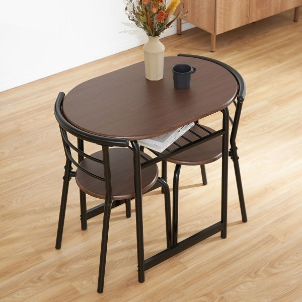 ダイニングテーブルセット 3点 2人用 チェア 食卓 おしゃれ カフェ スタイル ロウヤ LOWYA|low-ya|16
