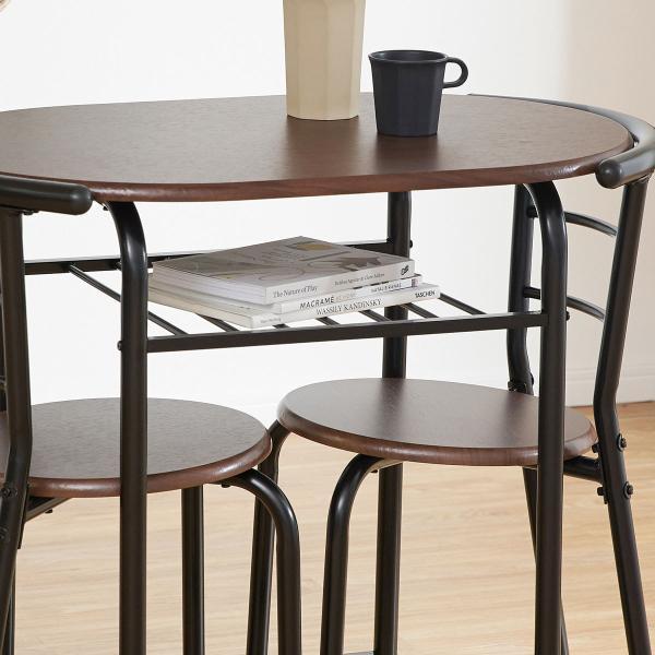 ダイニングテーブルセット 3点 2人用 チェア 食卓 おしゃれ カフェ スタイル ロウヤ LOWYA|low-ya|17