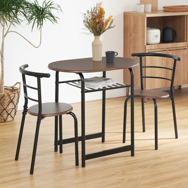 ダイニングテーブルセット 3点 2人用 チェア 食卓 おしゃれ カフェ スタイル ロウヤ LOWYA|low-ya|03