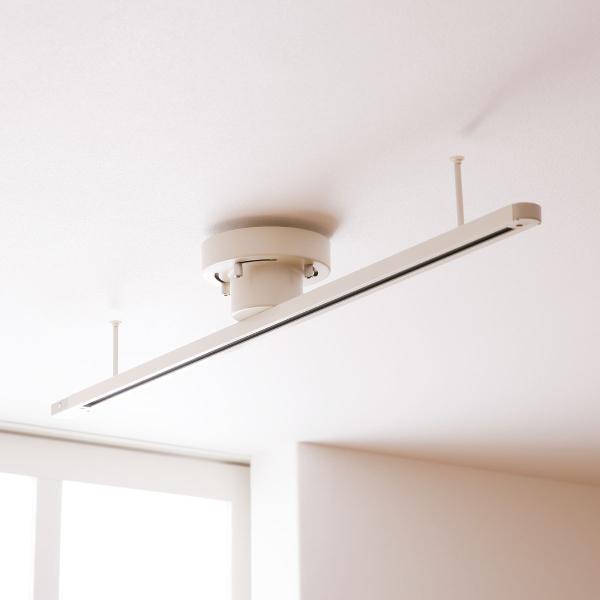 RoomClip商品情報 - ダクトレール ライテイングレール ライティングバー 照明器具 天井照明 100cm 1M ペンダントライト用 スポットライト用 照明 引掛けプラグセット おしゃれ