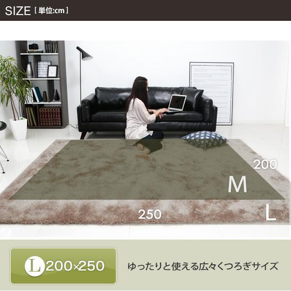 ラグマット ラグ おしゃれ シャギー カーペット マット ラメ入り Lサイズ 滑り止め 絨毯 じゅうたん 長方形 新生活 一人暮らし 家具|low-ya|05