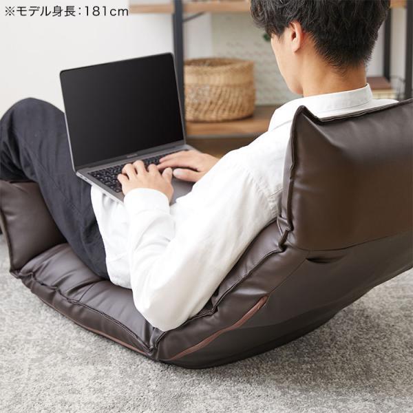 座椅子 リクライニング 低反発 ハイバック おしゃれ 一人掛け 42段ギア 1億円座椅子 座いす リラックスチェアー ロウヤ LOWYA|low-ya|18