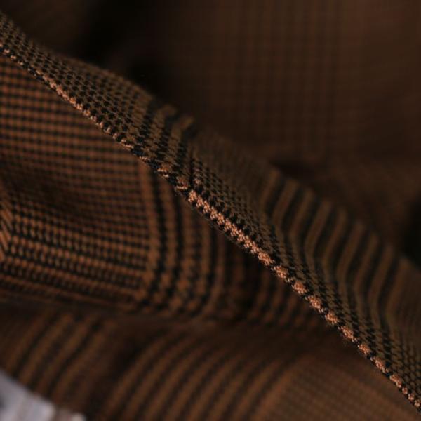テーラードジャケット メンズ チェック柄 細身 スリム グレンチェック タータンチェック ベージュ ブラウン 秋 冬 カジュアル 韓国系ファッション K-POP|lowcos|11