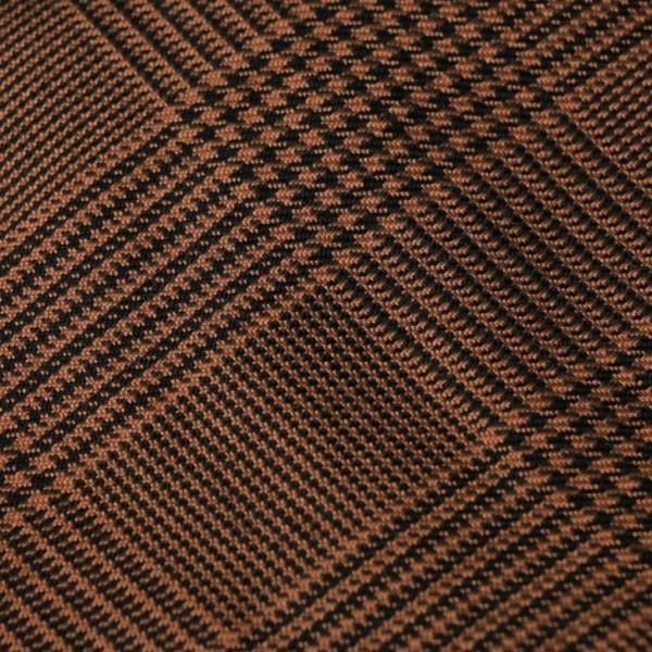 テーラードジャケット メンズ チェック柄 細身 スリム グレンチェック タータンチェック ベージュ ブラウン 秋 冬 カジュアル 韓国系ファッション K-POP|lowcos|04