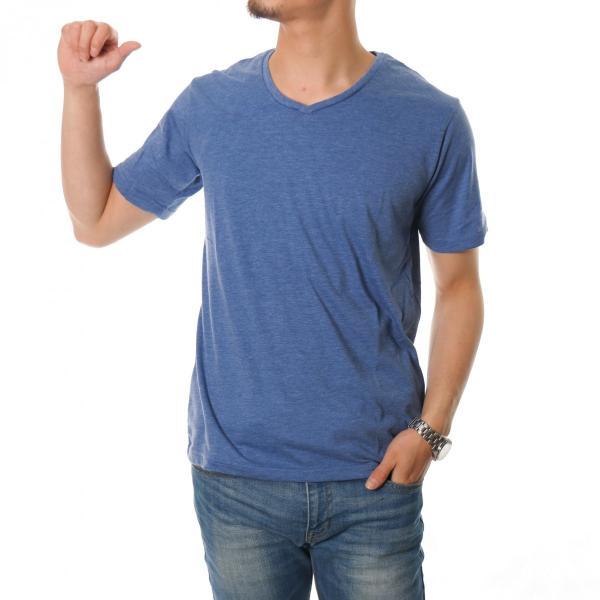 70cc745d12f56d ... 半袖Tシャツ メンズ Vネック カットソー インナー トップス 無地 白 黒 紺 青 グレー サックス ...