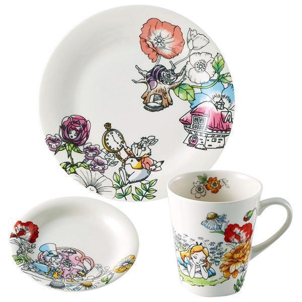 Disney(ディズニー) ふしぎの国のアリス モーニングセット (マグ・小皿・ケーキプレート) D-AL01 46198