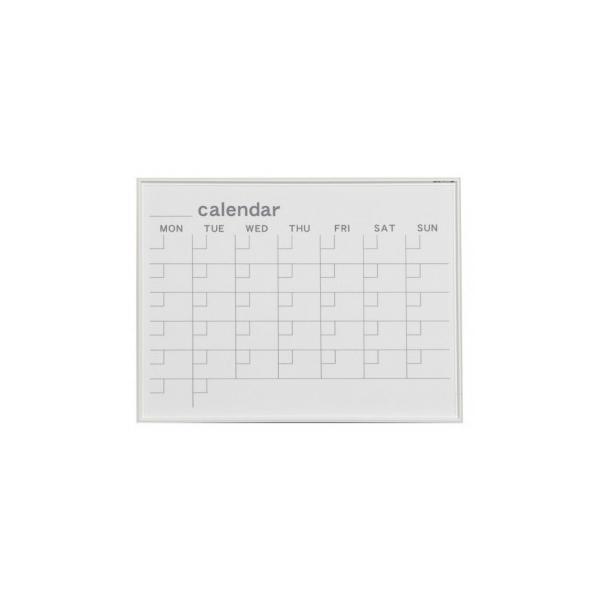 馬印 MR series(エムアールシリーズ)壁掛 予定表(カレンダー)ホワイトボード W610×H460mm MR2W