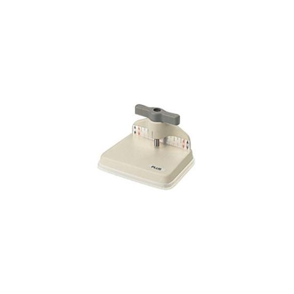 (まとめ)プラス ドリルパンチ1穴 PU-100DR〔×2セット〕