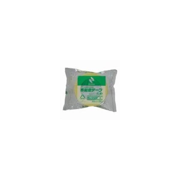 (まとめ)ニチバン カラー布テープ 102N-50 50mm×25m 黄色〔×10セット〕
