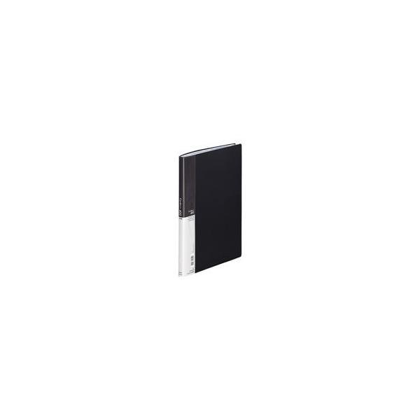 (業務用10セット) LIHITLAB 名刺ホルダー/名刺ファイル 〔A4〕 片面ポケット ヨコ入れ A-945 黒