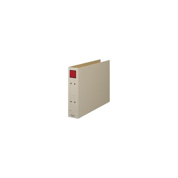(まとめ)キングジム 保存ファイル 4395E B4E 50mm 灰/赤〔×10セット〕