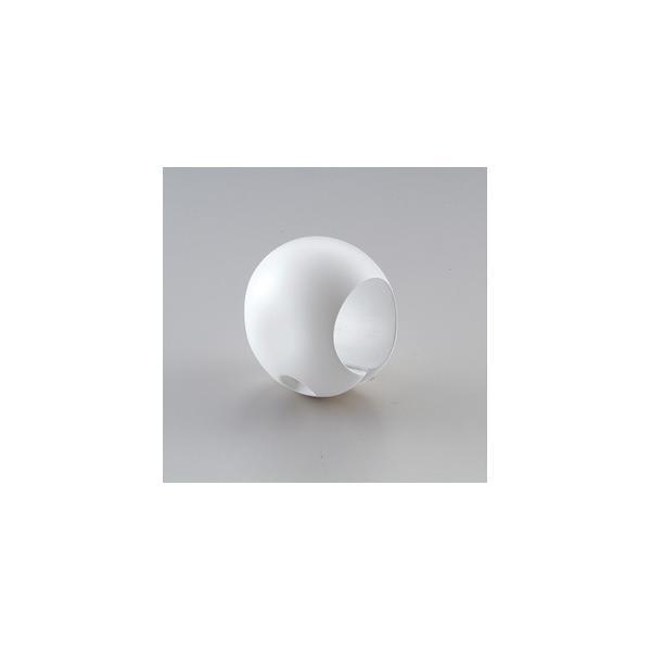 〔10個セット〕階段手すり滑り止め 『どこでもグリップ』たまご形 軟質樹脂 直径35mm アイボリー シロクマ 日本製