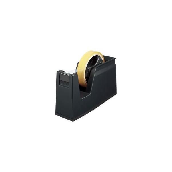 (まとめ) テープカッター カルカット黒 〔×5セット〕