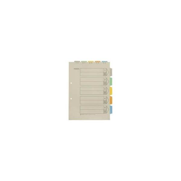 (業務用100セット) キングジム カラーインデックス/ファイル用仕切り 〔A4/2穴 タテ型〕 907TY-5K