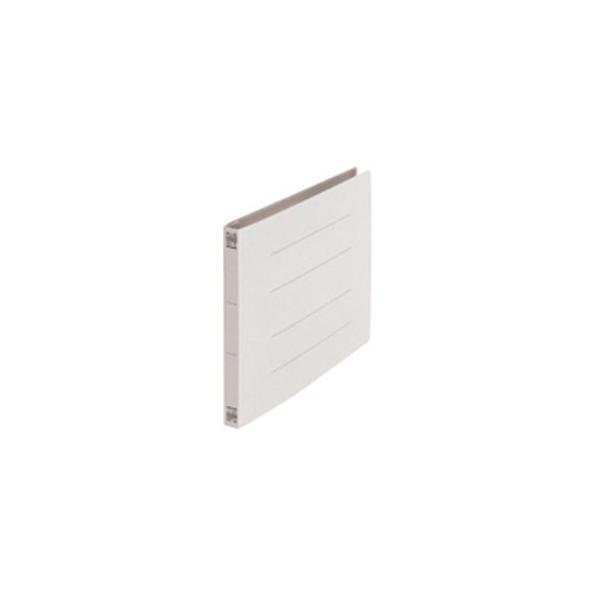 (業務用50セット) プラス フラットファイル/紙バインダー 〔B5/2穴 10冊入り〕 ヨコ型 032N グレー(灰)