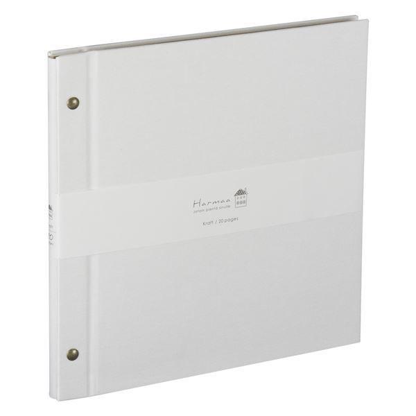 (まとめ) ハルマー フリーアルバム A-HRD-201-W ホワイト〔×3セット〕